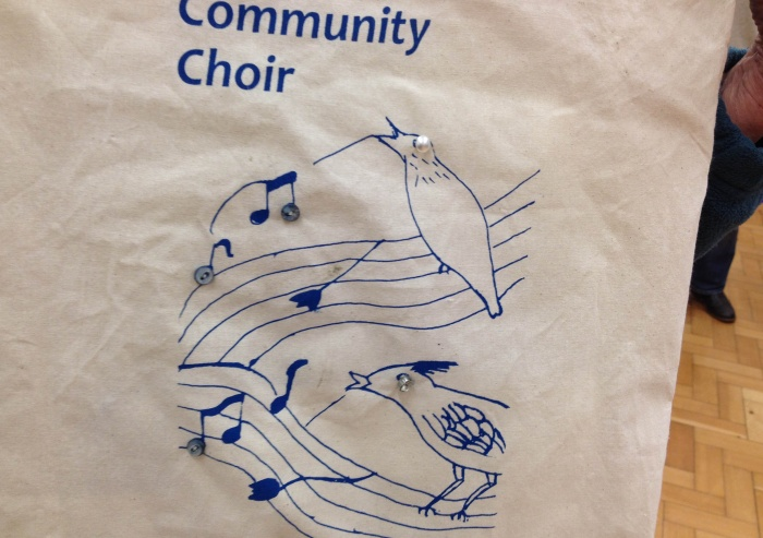 Carfield Community Choir tote bag