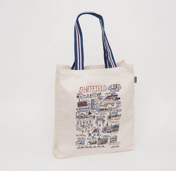 sheffield cityscape tote bag