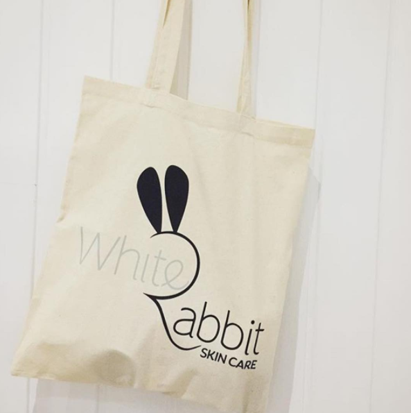 White Rabbit Skincare tote bag