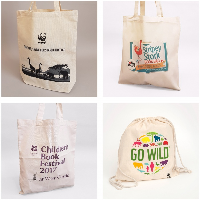 Various bags created for charities