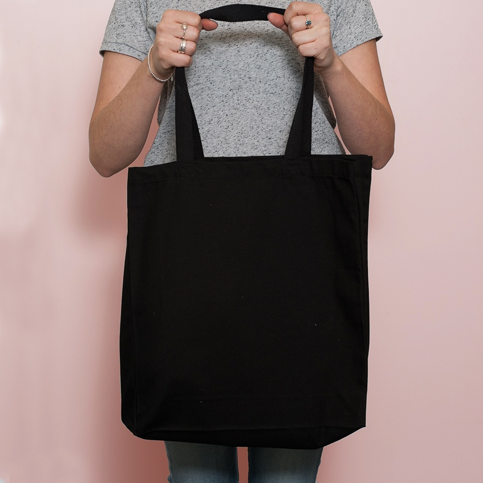 Black Luxury Shopper Bag