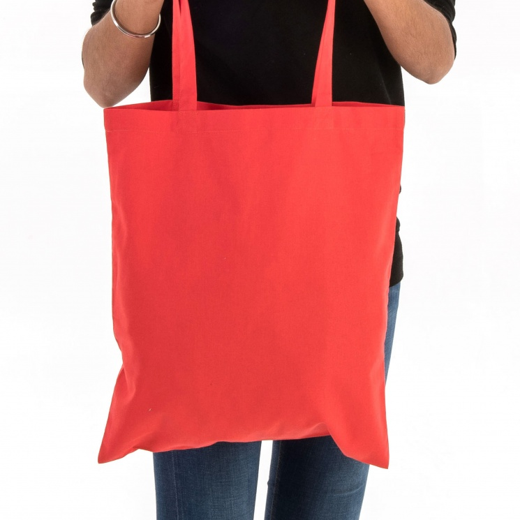 Chilli Red Cotton Tote Bag