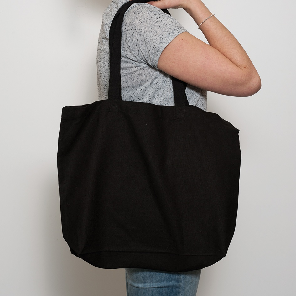 Black Large Shopper Bag