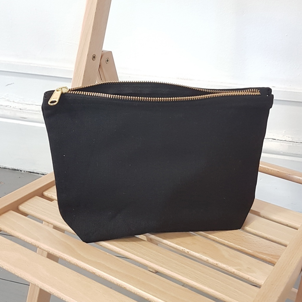 Black Toiletry Bag With ZKK Zip