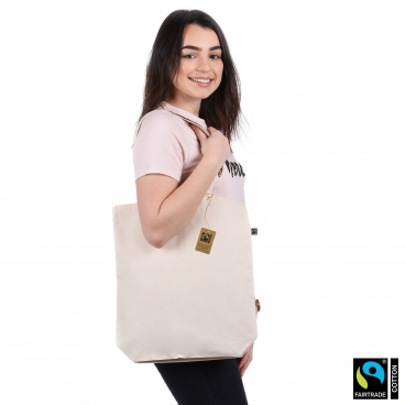 fairtrade cotton and organic cotton canvas shopper bag