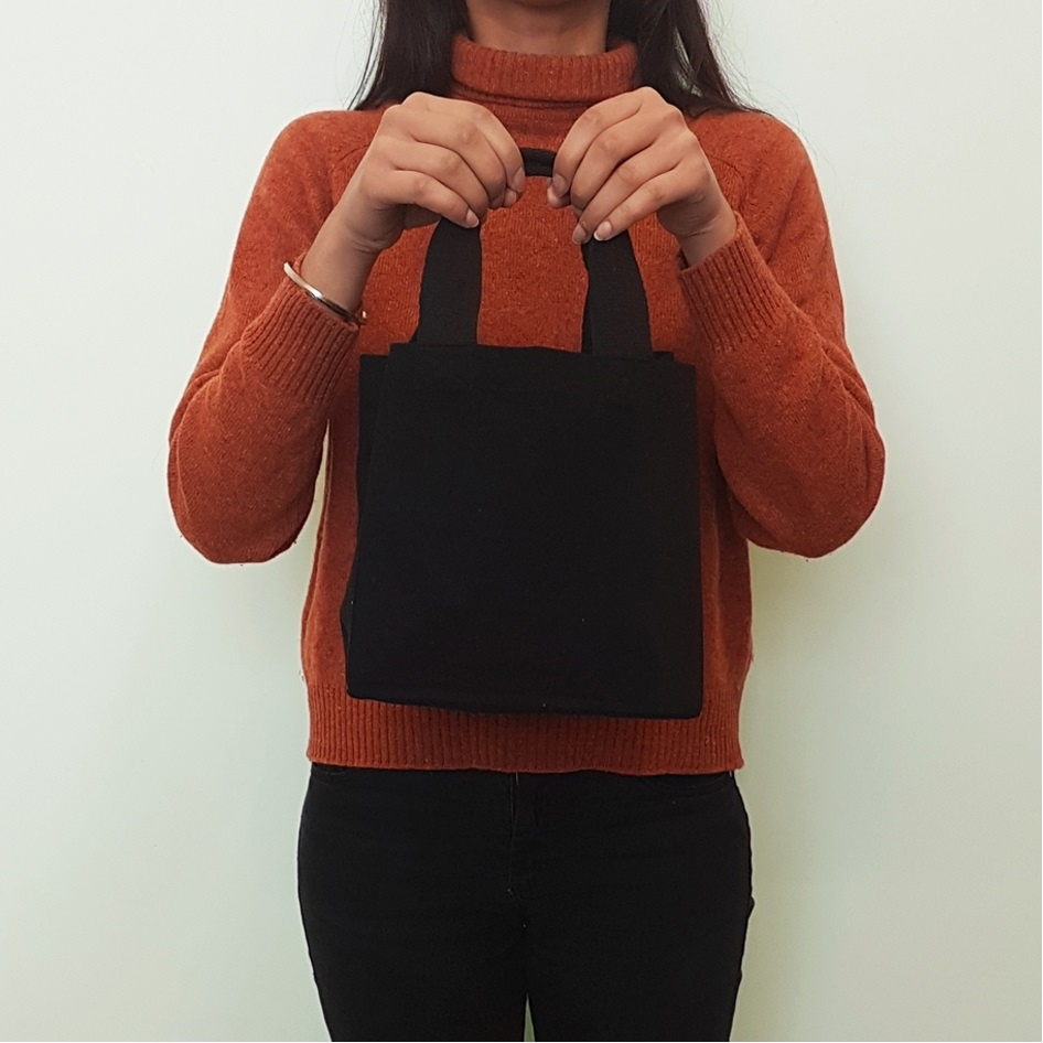 Black Small Shopper Bag