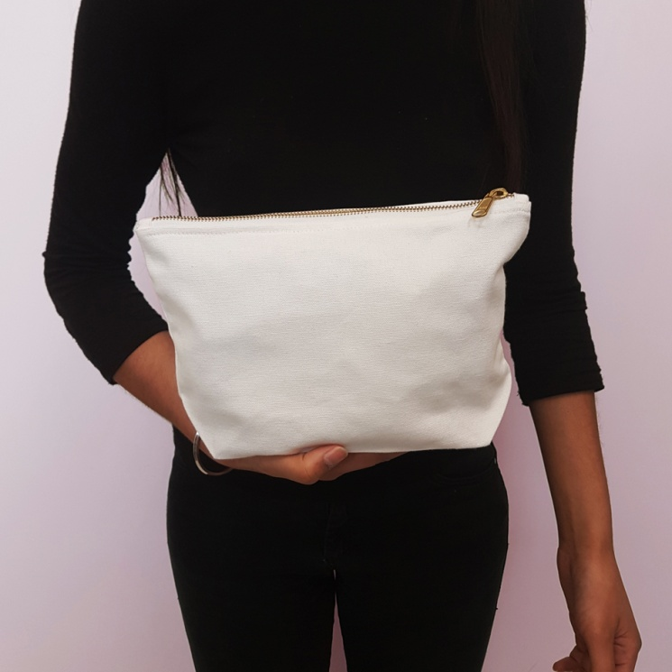 White Toiletry Bag