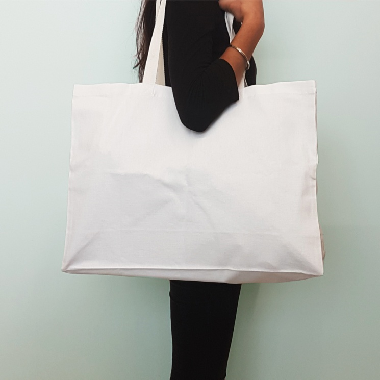 White Super Shopper Bag