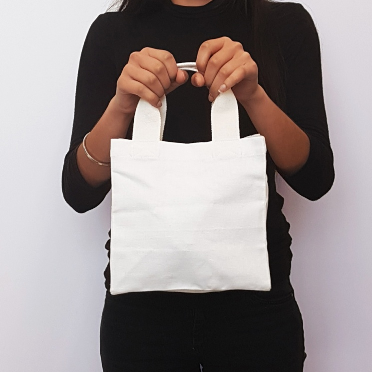 White Small Shopper Bag