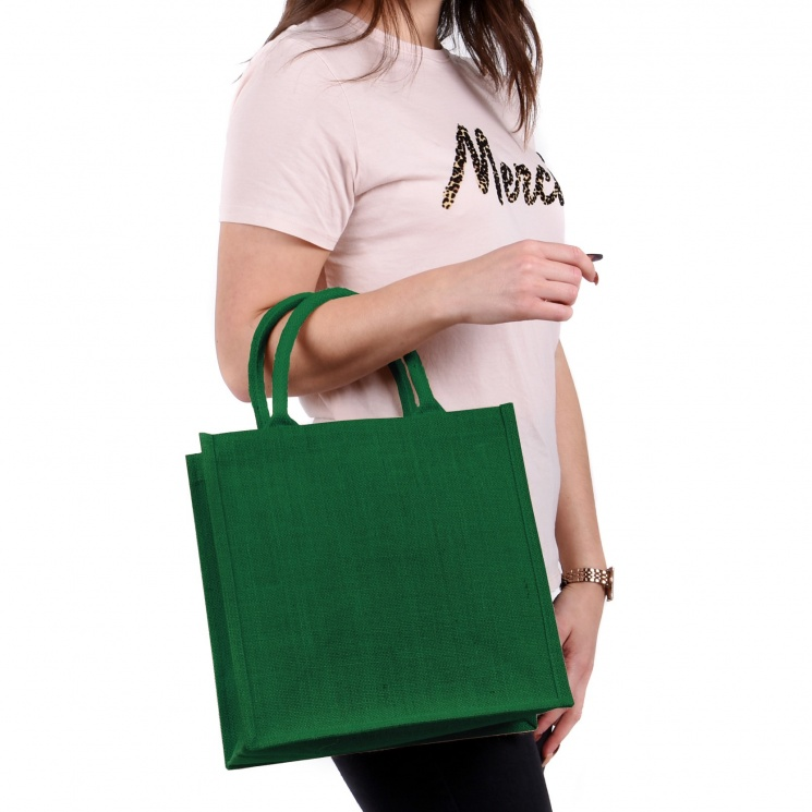 Medium Green Jute Bag