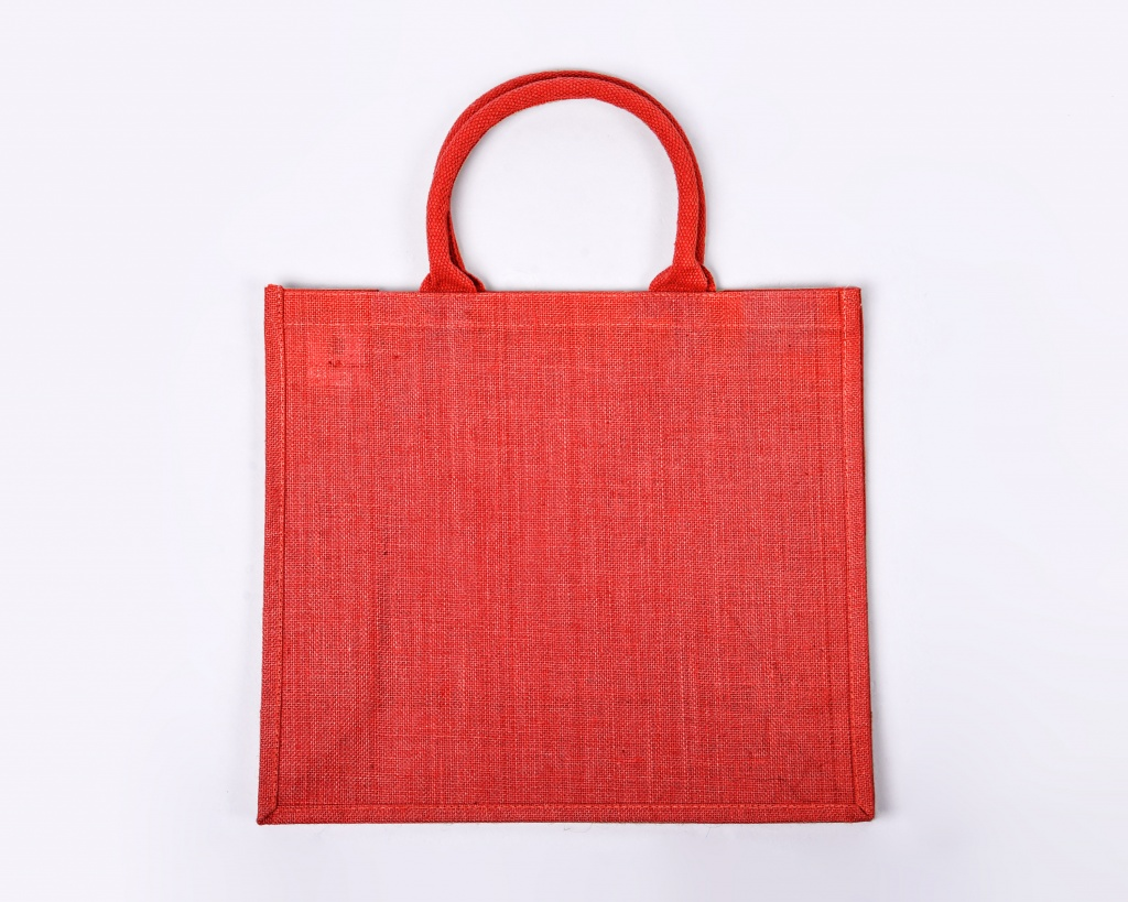 Large Red Jute Bag