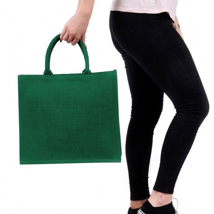 Large Green Jute Bag