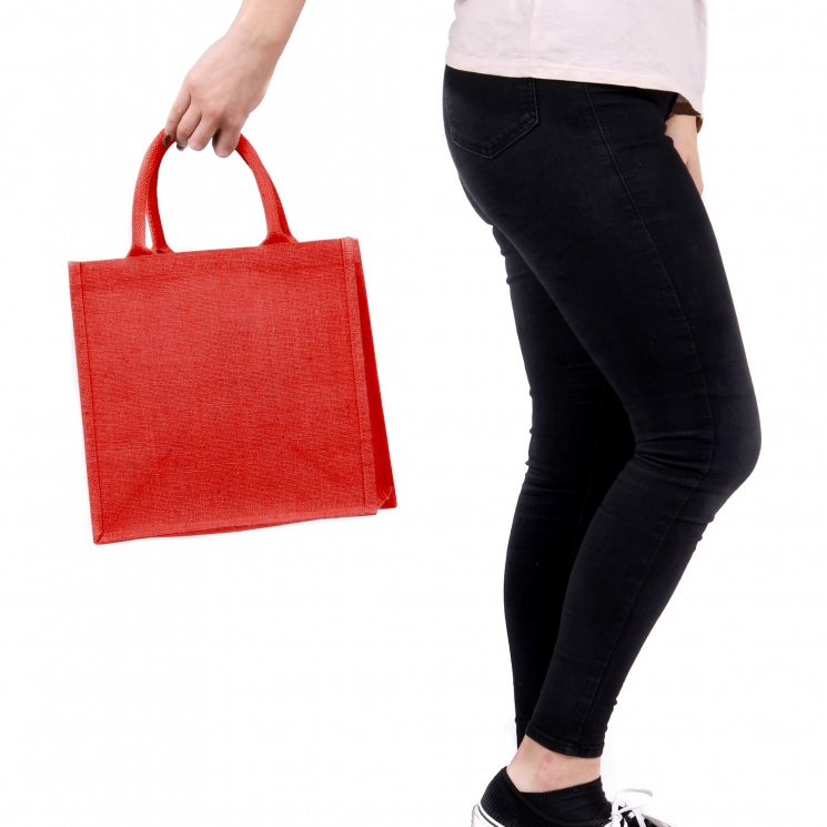Medium Red Jute Bag