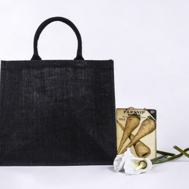Large Black Jute Bag
