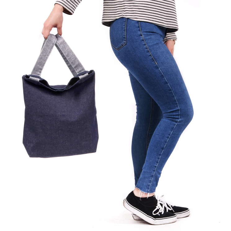 Denim Backpack Shopper Bag