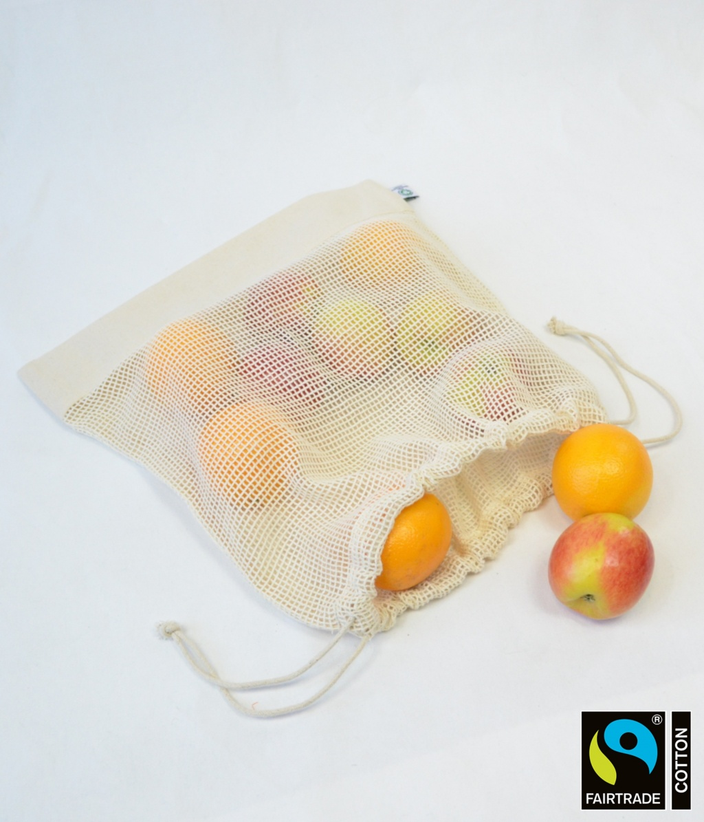 Fairtrade & GOTS Organic Large Mesh Pouch