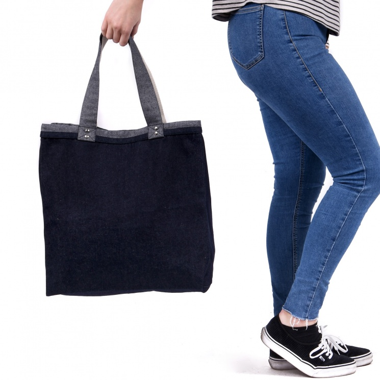 Luxury Denim Shopper Bag