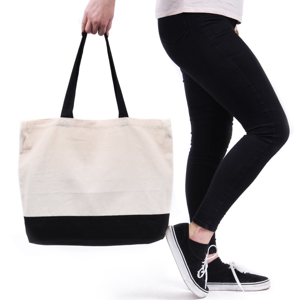 Contrast Large Shopper Bag