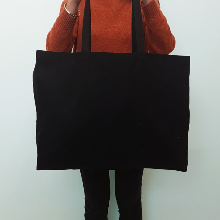 Black Super Shopper Bag