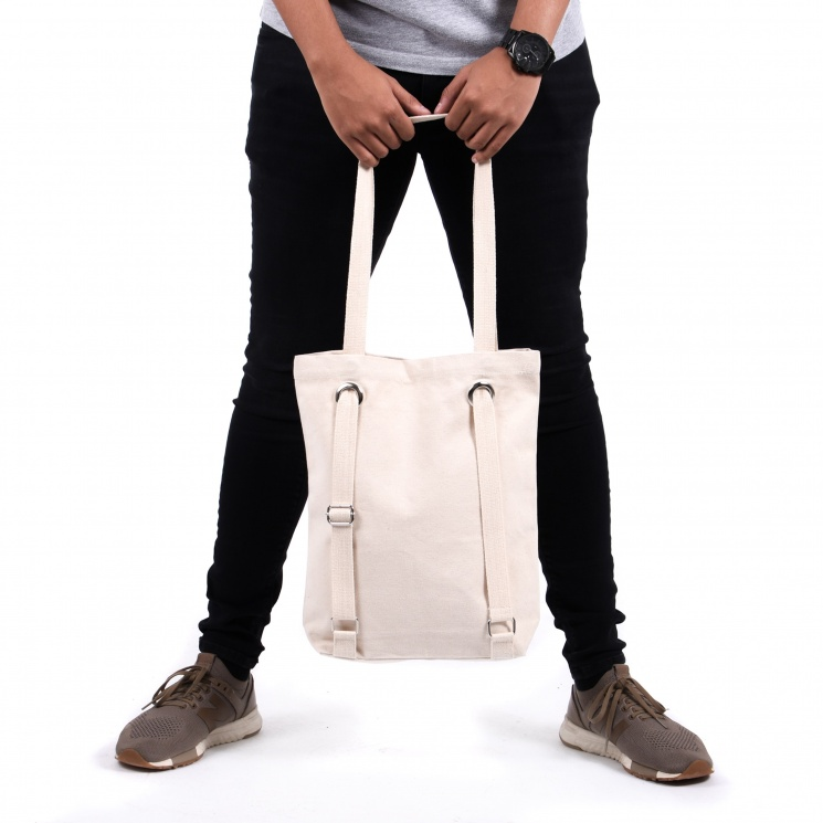 Canvas Backpack Shopper