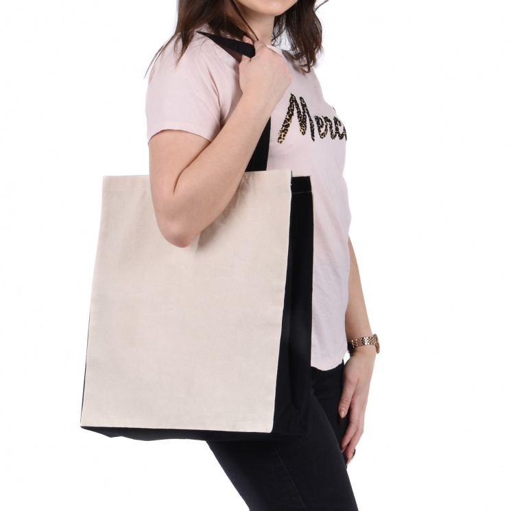 Contrast Luxury Shopper Bag