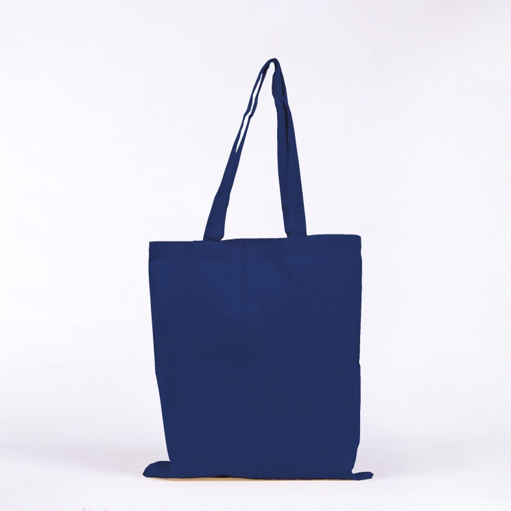 Electric Blue Cotton Tote Bag