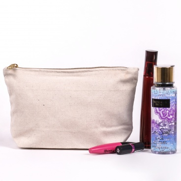 Toiletry Bag with Gold YKK Zip