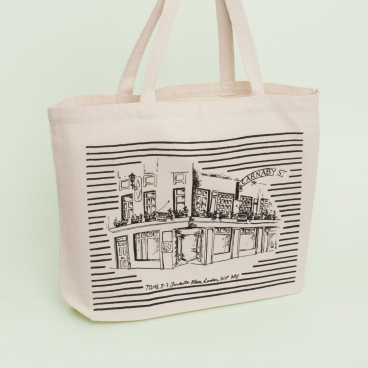 Natural Large Shopper Bag | Carnaby London | Screen Print